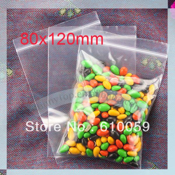 whole sale zipper bag (80 x 120mm) grip seal bag ziplock bag(China (Mainland))