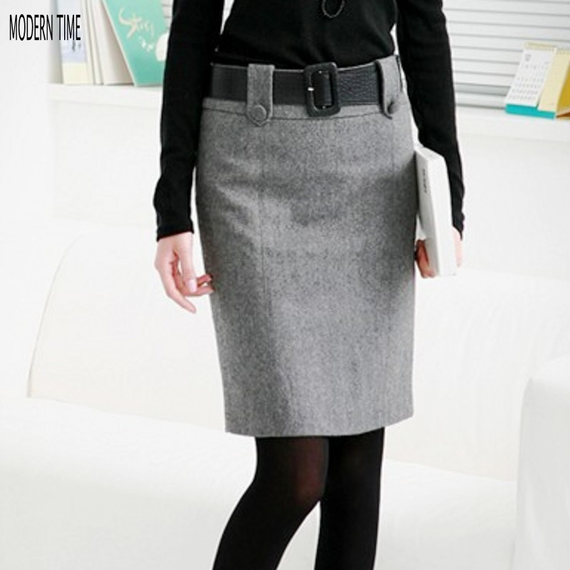 new fashion plus size black and gray mini skirt high waist