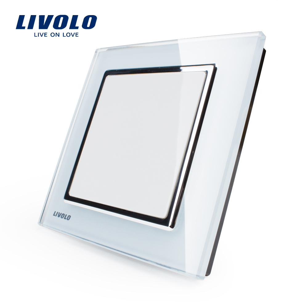Гаджет  Free Shipping, Livolo UK Standard , All Blank Socket,  White Crystal Glass Panel,   VL-W29K-12 None Свет и освещение