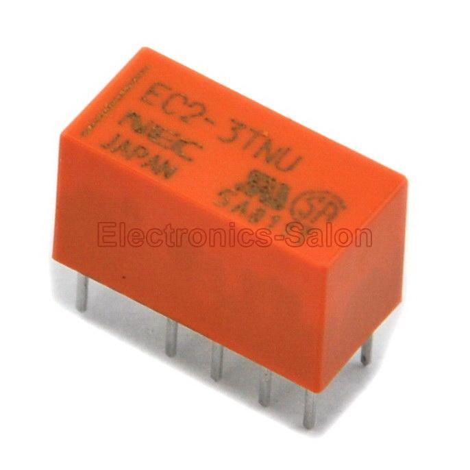 ( 20 pcs/lot ) EC2-3TNU Double Coil Latch Signal Relay,DC 3V,Slim Type,DPDT/2 Form C<br><br>Aliexpress
