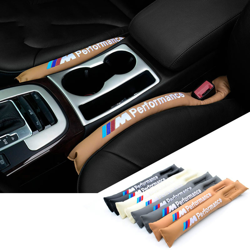 M Motorsport Power Performance Design Car Seat Crevice Gap Congestion Sponge Strip Interior Seat Cover Leakproof For BMW models(China (Mainland))