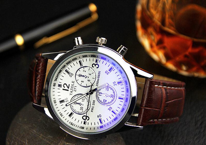 YAZOLE Mens watches Top Brand Luxury Mens Business Clock Male Blue Ray Glass Quartz Wrist watch Quartz-watch relogio masculino