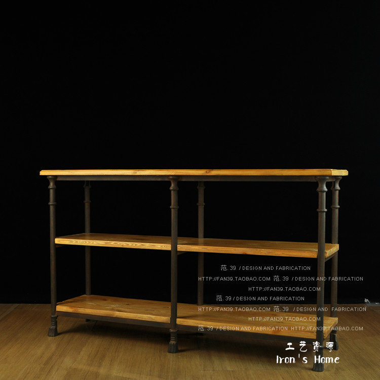 Rollins Industrial Loft Bronze Iron Console Table: LOFT Export French Industrial Retro European Style Garden