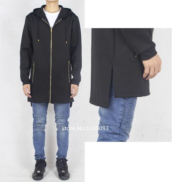 neo extended hoodie man hip hop urban streetwear swag black men clothing styles white fake hba designer clothes yeezus kanye - store No 1335093