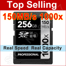 Buy 150MB/s 16GB 32GB SDHC 1000x SD Card 64GB 128GB 256GB SDXC UHS-II U3 Flash Memory Card For 3D 4K Digital SLR Camera HD Camcorder for $33.11 in AliExpress store