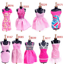 Kid Child Girl Fashion Evening Dresses Clothes for Barbie Dolls Outfit Style Dress Set #68452 (China (Mainland))
