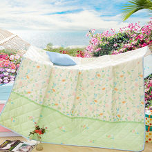 colorful leaves vines print floral quilting air-condition comforter twin/single/queen/full/double size polyester summer quilt(China (Mainland))