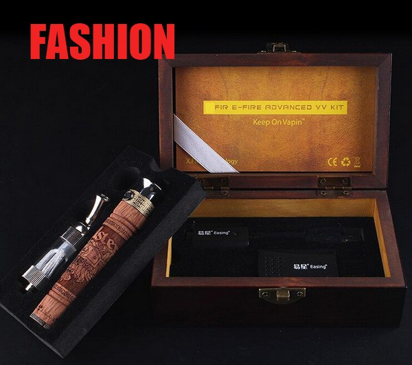 2014 New X Fire 2 Wood Tube E-cigarette E fire E cig Electronic Cigarette Kits Ego vv Mod Vaporizer Pen Wood Efire Battery Kit<br><br>Aliexpress