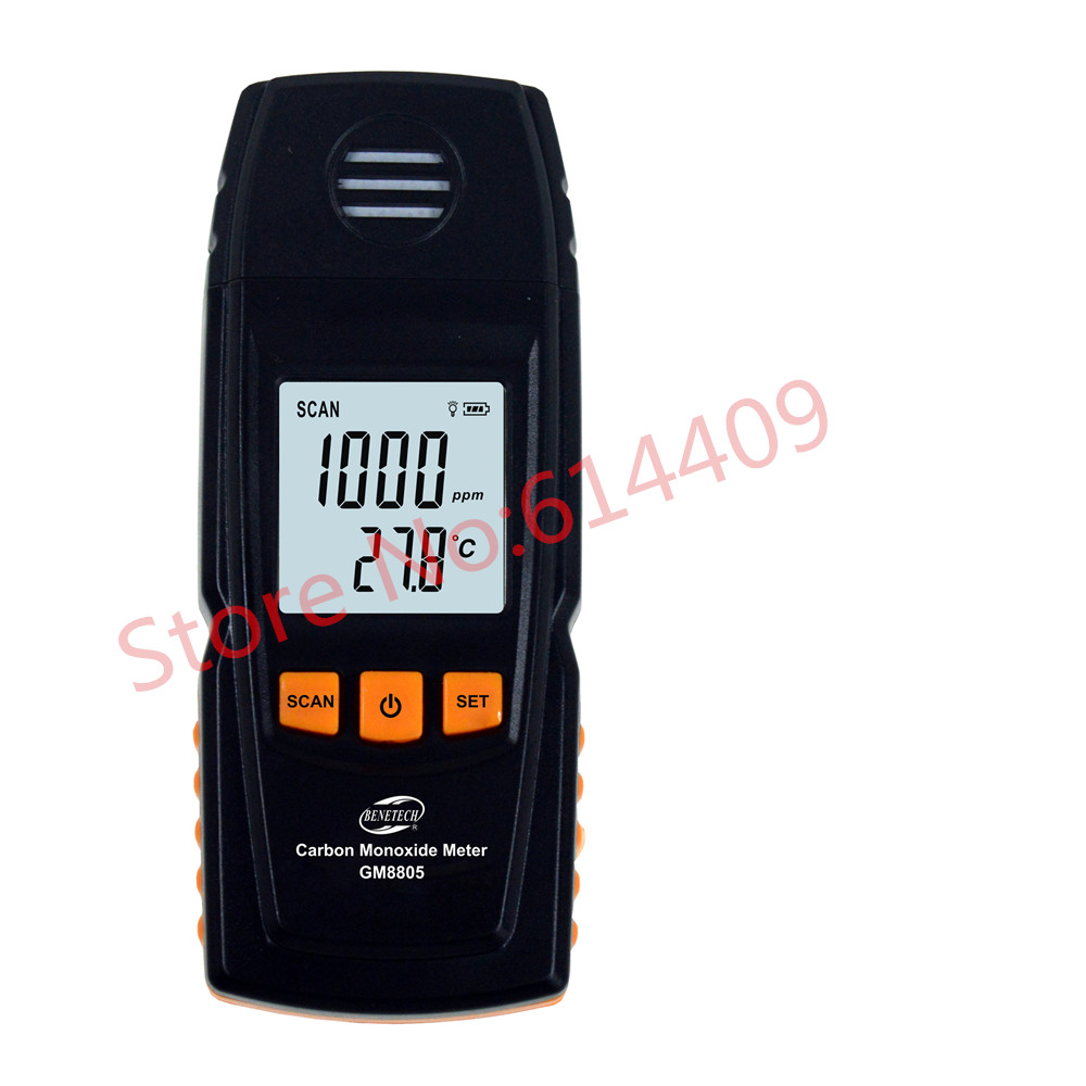 BENETECH GM8805 Handheld Carbon Monoxide Meter with High Precision CO Gas Tester Monitor Detector Gauge 0-1000ppm