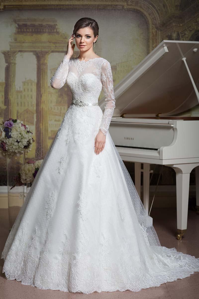 Халат де Mariage удивительный белый Luxrious платье-линии спинки Cap рукав длинный рукав пояса свадебные платья узелок vestido де noiva