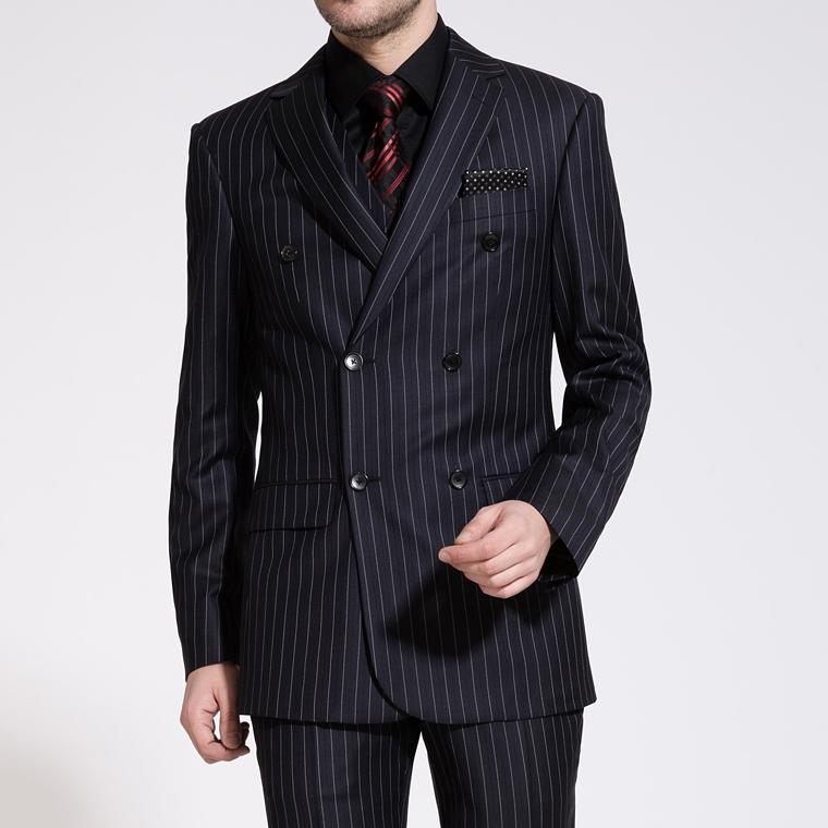 Groom Suits 2016 New Arrival Wedding Mens Stripe Suit Set Mens Suits With Pants Mens Double ...