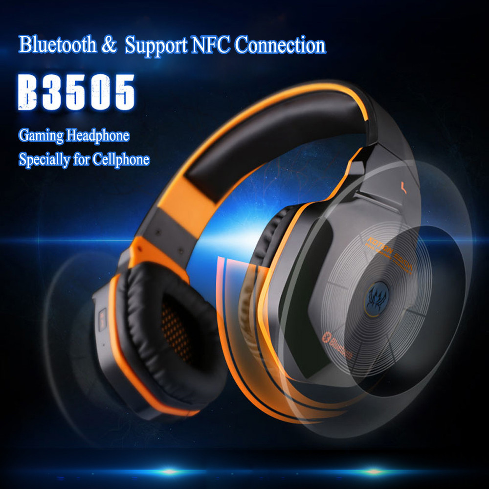 Wireless Bluetooth Stereo Gaming Headphones Headset Support NFC with Microphone for iPhone 6 Samsung Xiaomi PC Free Shipping
