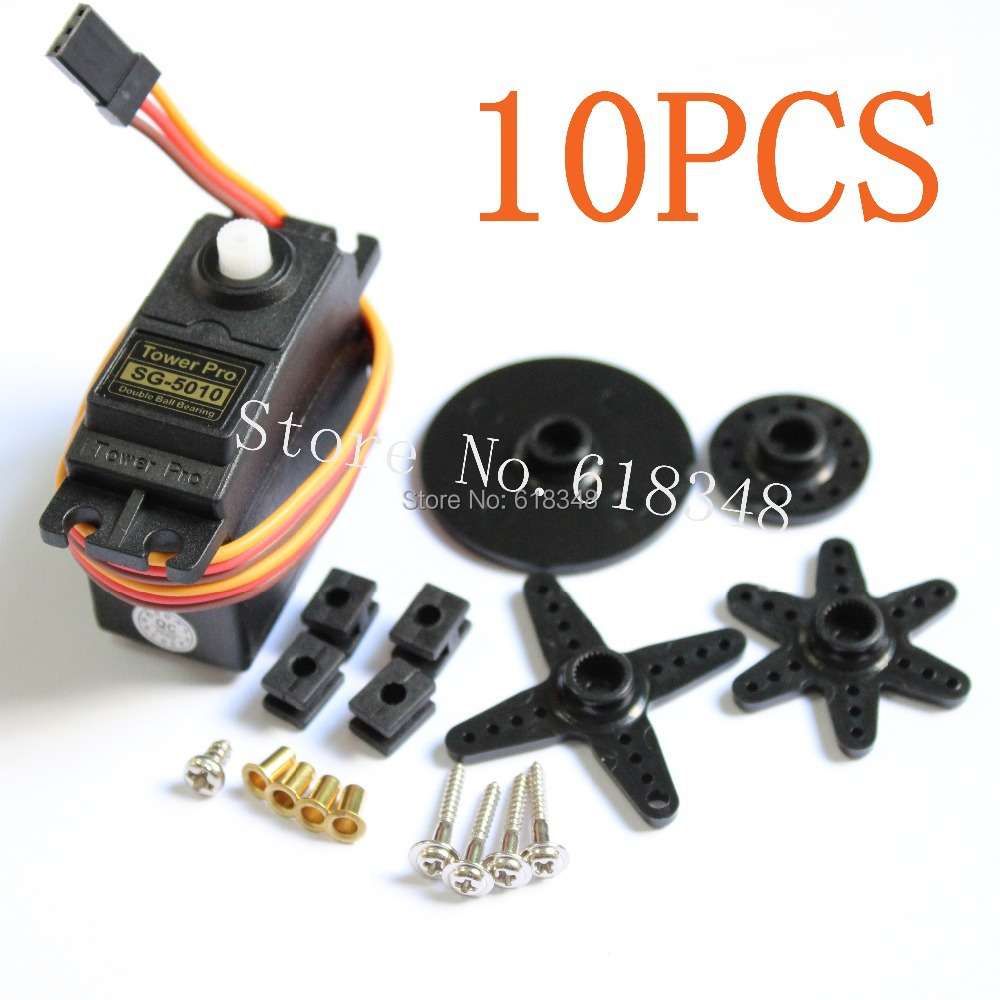 10pcs Lot Rc Servo Motor Standard Tower Pro Sg 5010