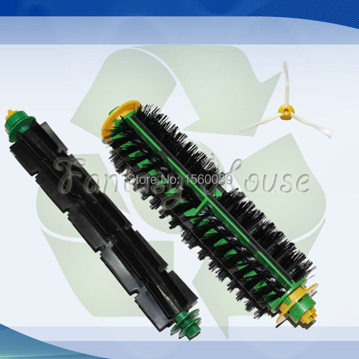 Bristle and Flexible Beater Brush for iRobot Roomba 500 Series Vacuum Cleaner 520 530 540 550 560 Bristle Brush(China (Mainland))