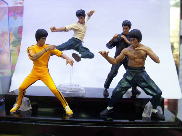 PVC Bandai Bruce Lee Figures Chinese Kung Fu Master Legend Movie & TV figures model toys gift for children collection 4pcs/set(China (Mainland))