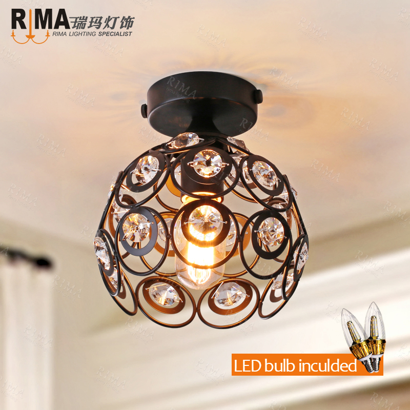 free shipping antique crystal ceiling lamp black ceiling light lumiere luminaria chandeliers ceiling lampe deco from rima<br><br>Aliexpress