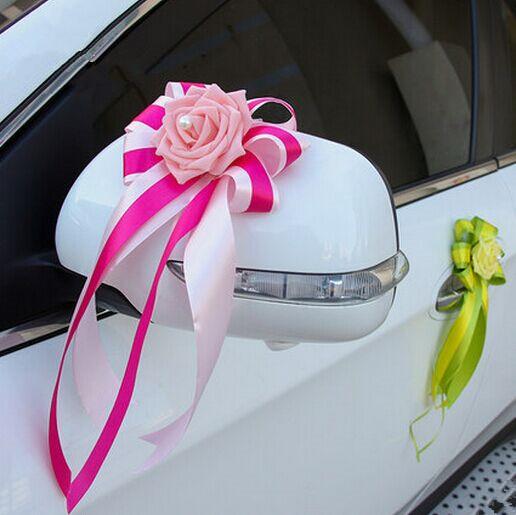 Flower Wedding Car Decorations : Pe flowers for decoration wedding car with gift box
