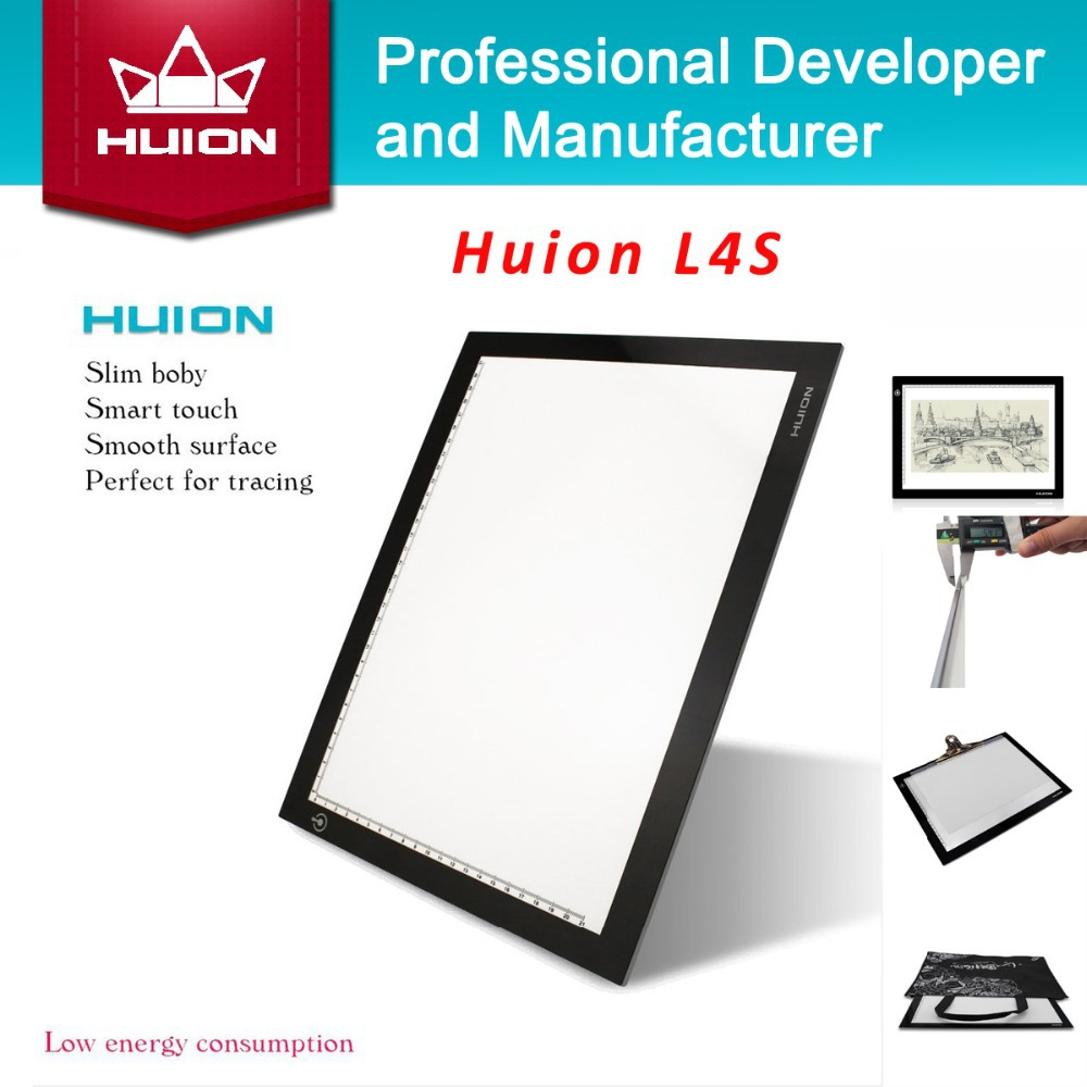 """NEW Huion L4S 17.7"""" LED Tracing Boards Ultra Thin Light Box Light Pad Professional Animation Drawing Tracing Panel Free Shipping(China (Mainland))"""