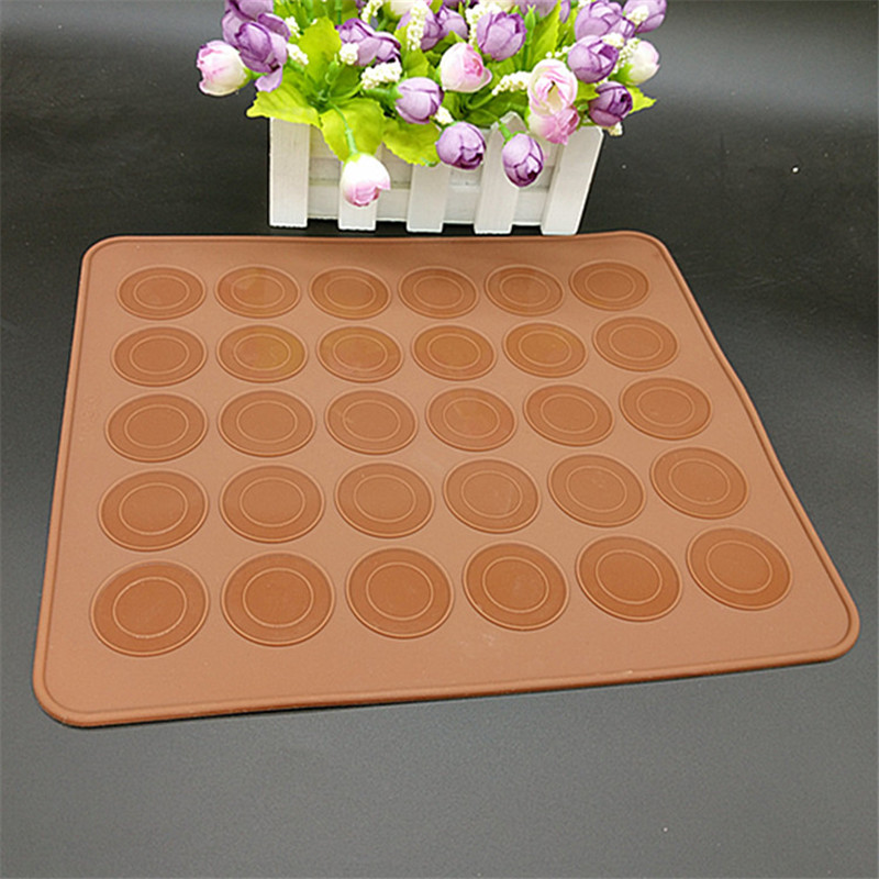Hot Pastry Tools Large Size 30 Holes Macaron Silicone Baking Mat Cake Christmas Bakeware Muffin Mold/decorating Tips Tools(China (Mainland))