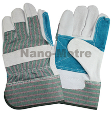 NMSAFETY FREE SHIPPING 1 Pairs leather welding gloves, en388 good quality,paste safety cuff