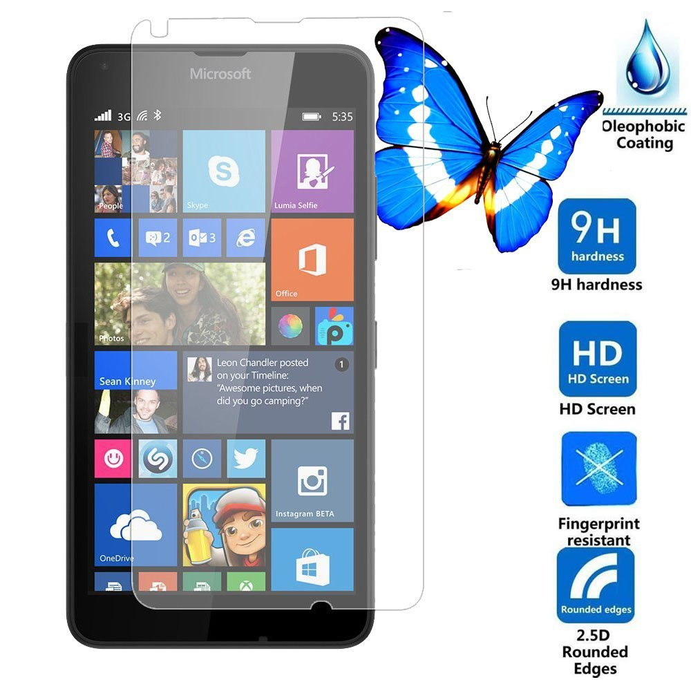 0 3mm Premium Tempered Glass for Nokia Lumia 640 5inch 9H Hard 2 5D Arc Edge