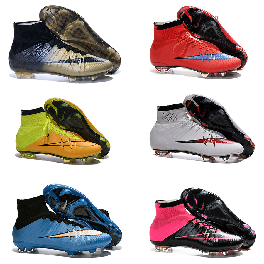 Гаджет  20 colors Wholesale 2015 Mens Soccer shoes.Superfly Fg Shoes soccer cleats De Futbol Zapatillas High Ankle Cleats football shoes None Спорт и развлечения