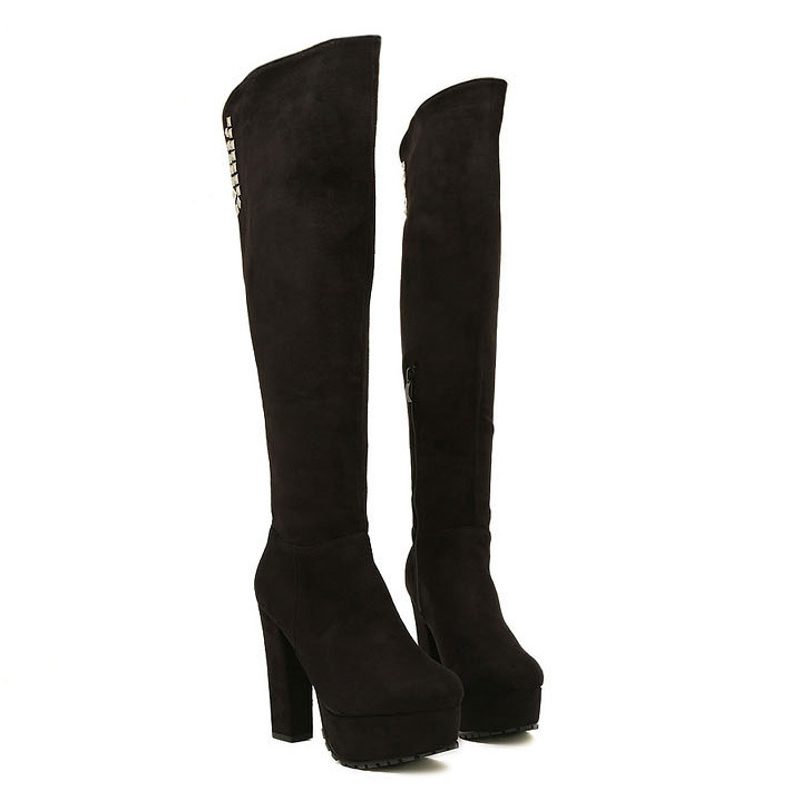 Standard thigh-high boots offer a narrow calf design, as well as a tighter-fitting thigh portion. Anyone with larger legs finds the standard boot uncomfortable, so plus-size thigh-high boots offer the perfect solution. The widened calf area and larger opening for the thigh make this style of boot accessible to anyone who wants to wear them.