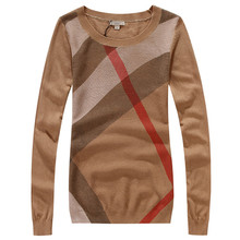 4 Colors New 2015 Female England Style Striped Wool Sweater Very Comfortable Knitted Wear Free Shipping S-XL(China (Mainland))