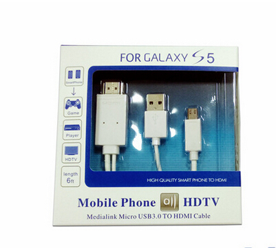 2M HD1080P Micro USB MHL to HDMI HDTV Adapter Converter Mobile Phone Digital Cable for Samsung Galaxy S3 S4 S5 NOTE2 NOTE 3(China (Mainland))