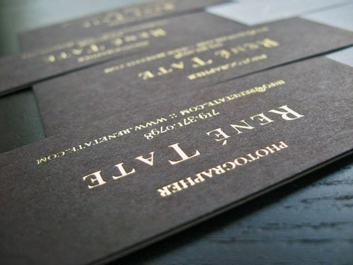 High end Customized Golden Printing Business cards Foil
