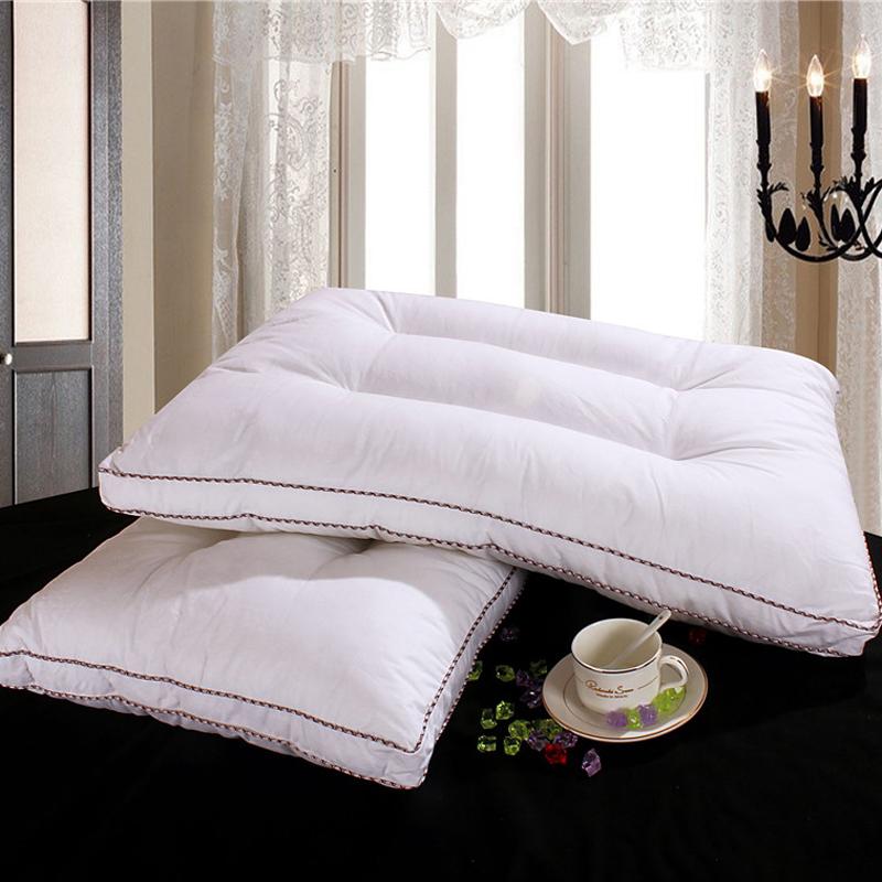 Svetanya white Memory Foam Filler neck pillow 40s cotton 48x74cm Single bedding Pillows(China (Mainland))