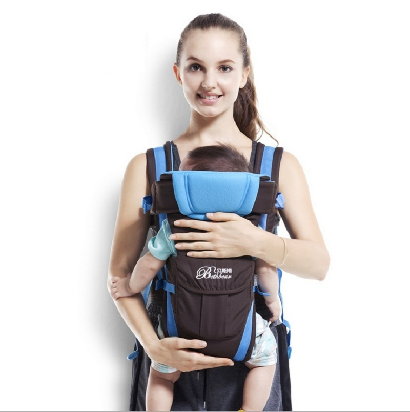 0-2 Years Front Facing Kangaroo Ergonomic Baby Carrier Stretchy Sling Hipseat For Infants Manduca Baby Backpack Pouch Wrap KF022<br><br>Aliexpress