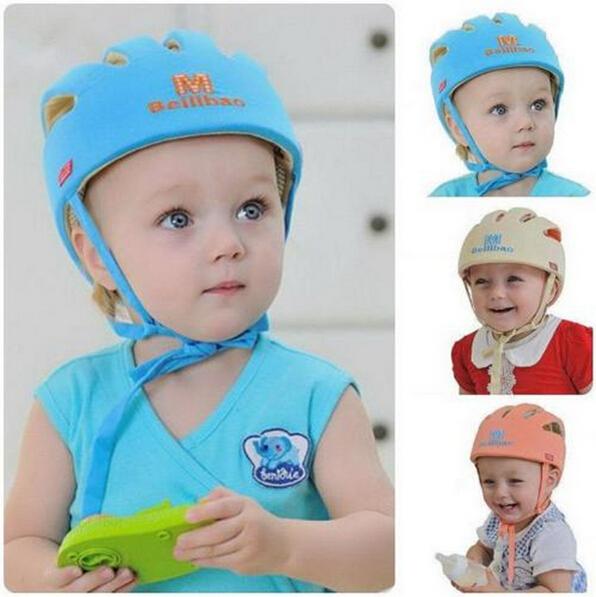 2016 Baby Toddler Safety Helmet Headguard Cap Adjustable Hat No Bumps Kids Walk Learning Helmets Protective Hat Gear Cap XT(China (Mainland))
