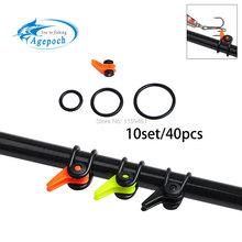 Agepoch 1set Fishing Rod Pole Hook Keeper Lure Spoon Bait Treble Holder Hang Hooks Rod Shackle Rock Rafting Tackle Accessory