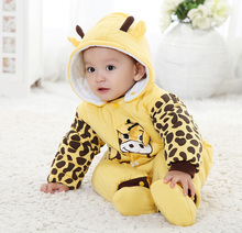 Cotton-padded Baby's Romper Ladybug and Cows Boy/ Girl Jumpsuit Autumn Winter Infant Cartoon Animal Body Suit Free Shipping Gift(China (Mainland))