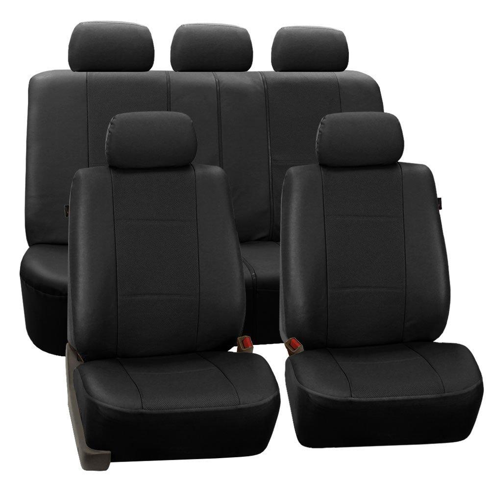 Fashion Universal Car Seat Covers PU Leather 11PCS Set