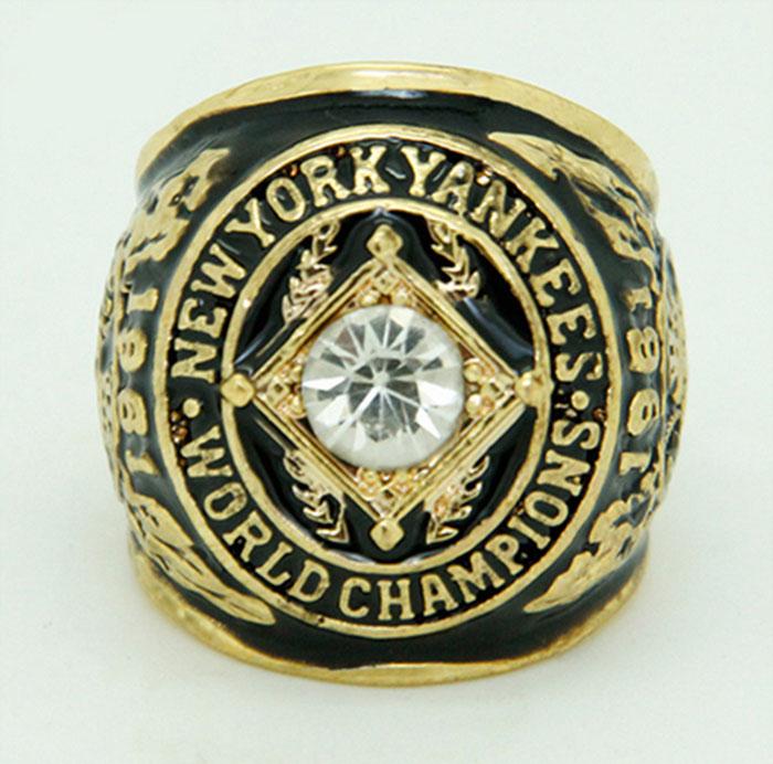 Wholesale 1961 New York Yankees Major League Baseball Zinc Alloy Sports Replica Fans world Championship Ring(China (Mainland))