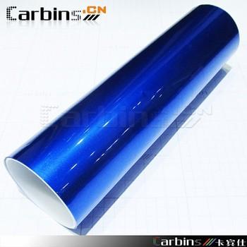High glossy metal  pearl blue diamond  vinyl car wrap sticker film air free