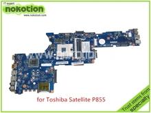QFKAA LA-8392P Rev 1.0 K000135160 For toshiba satellite P850 P855 Laptop motherboard HM77 HD4000 graphics