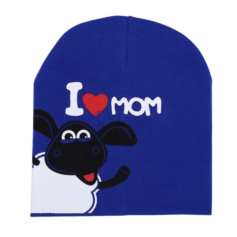 baby hat knitted Shaun sheep spring fall baby hat I LOVE MAMA PAPA infant cap Cotton children Beanies(China (Mainland))