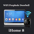 iHome 8 Wireless Video Door Phone Smart WIFI Peephole Doorbell Intercom 7 inch TFT Capacitive LCD