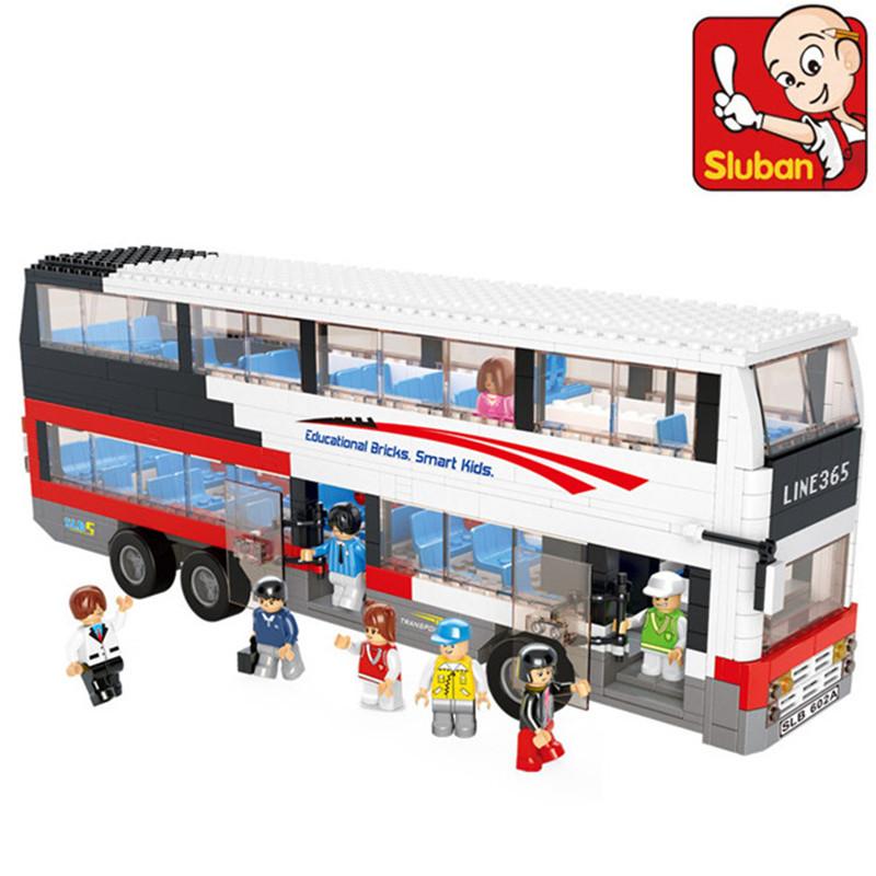 Luxury Double-decker bus compatible with legominifugures Tour bus Toy building blocks 741pcs City Bus series 0335<br><br>Aliexpress