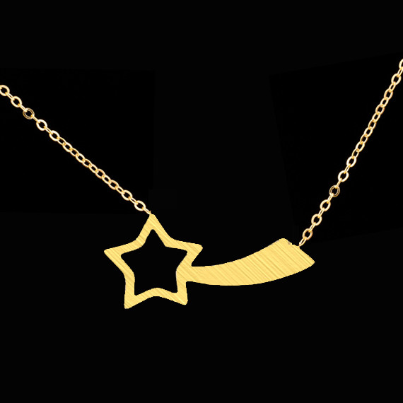 2016 Dainty Women Bridesmaids Gift Gold Filled Bijoux Choker Body Chain Vintage Shooting Star Necklaces & Pendants BFF Jewelry(China (Mainland))