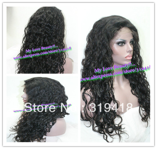 Stocks Fashion Malaysian Curly Charming for women High quality Brazilian Hair Best Lace Front Wig & Full Lace Wig 10-24 FASHION