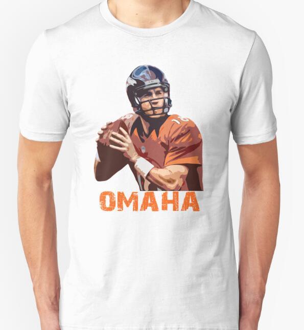 men t shirt 2016 tees summer style fashion men t shirt short sleeve Mens Peyton Manning Print sleeved cotton fashion(China (Mainland))