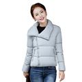 autumn winter women warm jacket candy color Splice plus size jacket cotton padded for elegant ladies