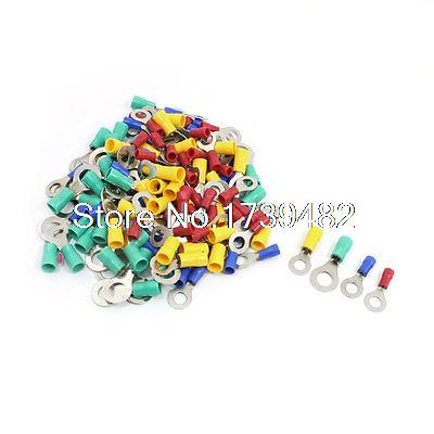 120Pcs RV5.5-6 Insulated Ring Terminals Connectors for AWG 12-10 Wire(China (Mainland))