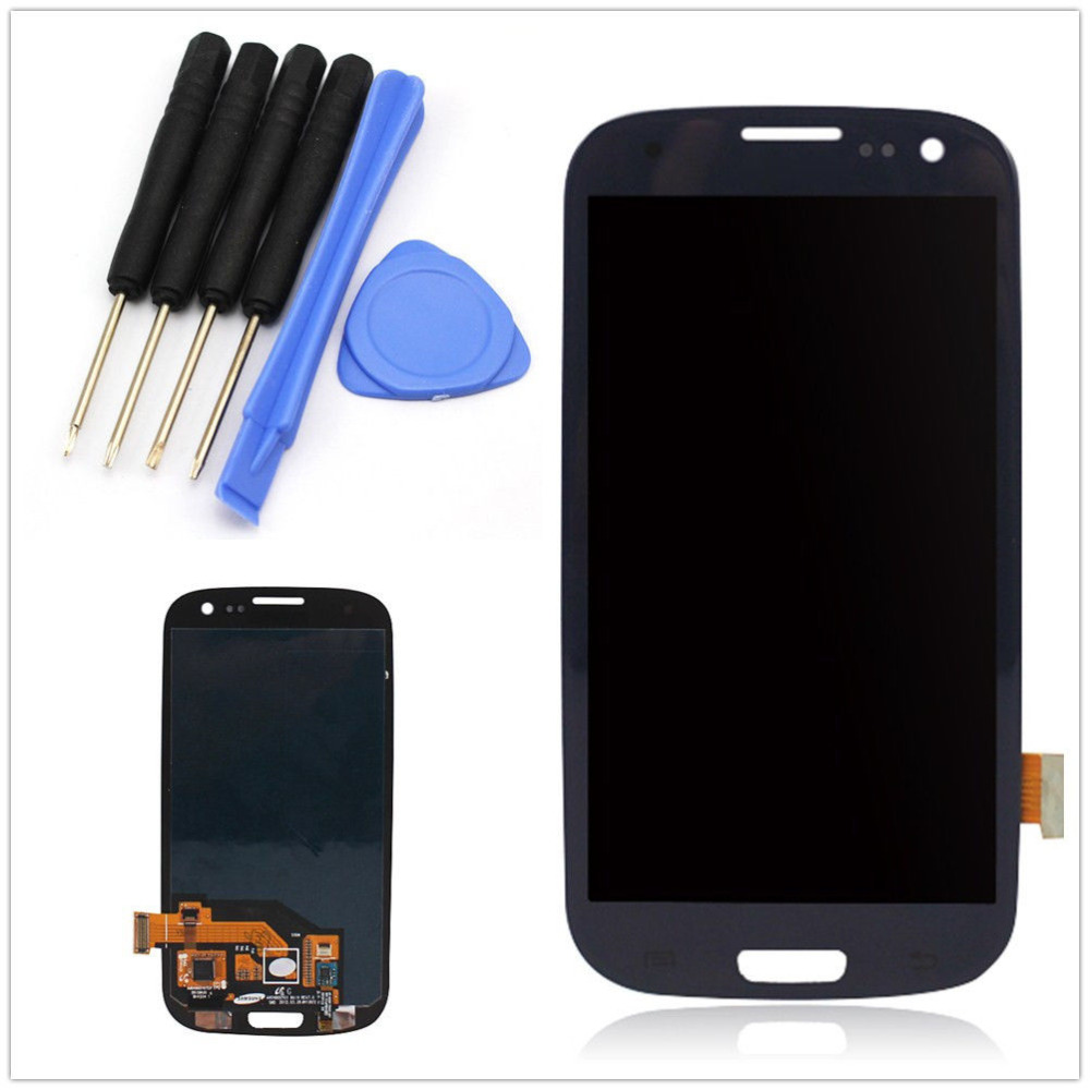 For Samsung Galaxy S3 Screen Replacement ,Lcd i9300 i535 T999 i747 Display Screen For samsung galaxy s3 i9300 Lcd Screen +Tools(China (Mainland))