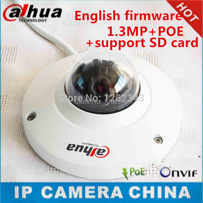 Dahua IPC-HDB4100C 960P 1.3Megapixel IR Network Dome Camera IP Camera HDB4100C 2.8mm lens support POE SD card storage(China (Mainland))