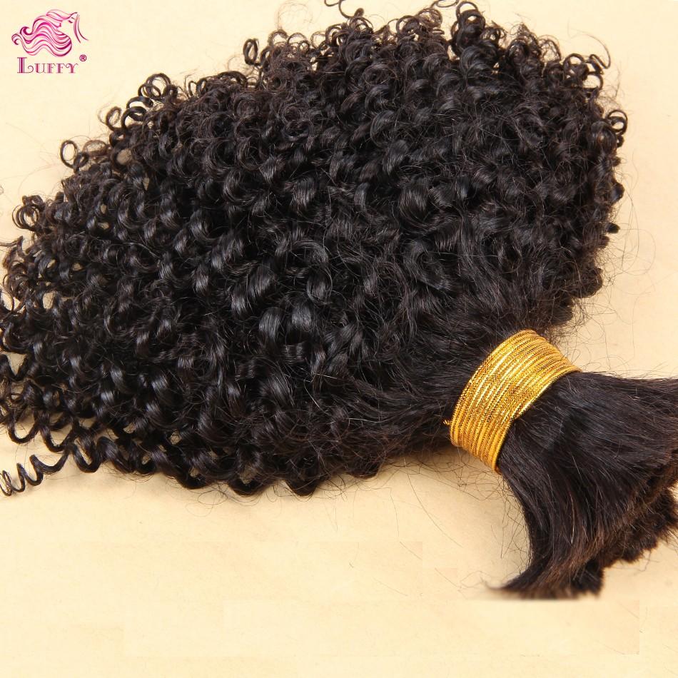 Cheap 6A Top Quality Bulk Mongolian Virgin Hair Kinky Curly Virgin Bulk Hair For Braiding 100 Human Bulk Hair Extensions 1Pc/Lot